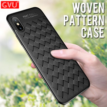 GVU Luxury Grid Weaving Phone Case For iphone 6 6S 7 8 Plus X TPU Soft Ultra Thin Full Cover Shell For iPhone 6 6S 7 8 X 10 Case
