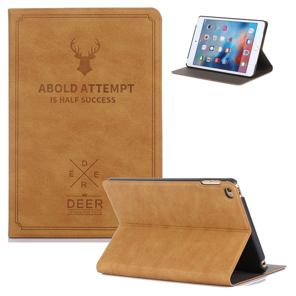 2017 Classic Retro Book Style Flip Case for iPad Air 2 (2nd Gen) PU Leather Stand Case Cover for Funda Coque iPad 6 Air 2 folding leather stand case for new ipad 2nd 3rd 4th gen brown