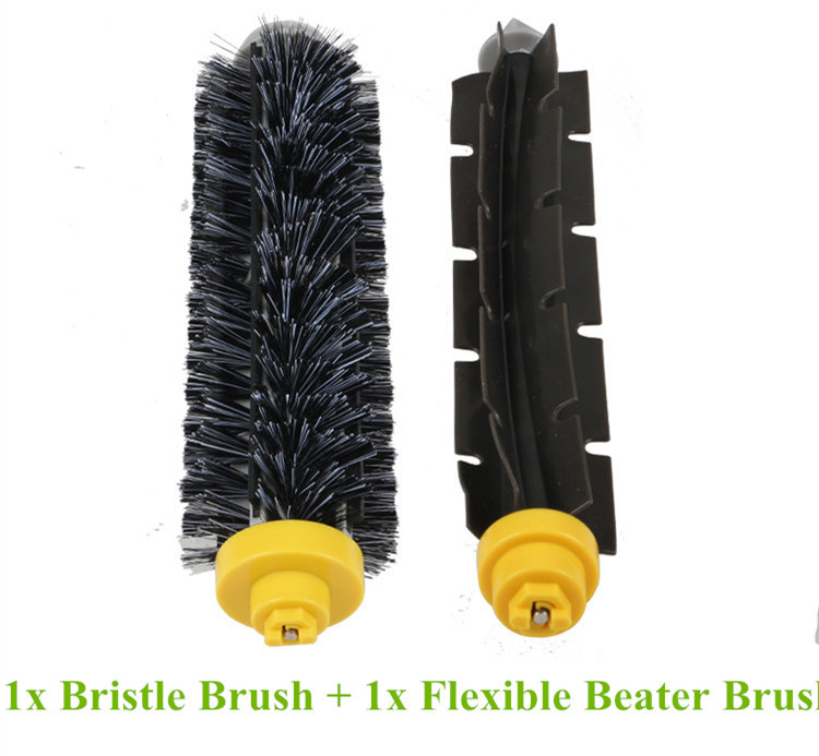 1 piece Bristle Brush + 1 piece Flexible Beater Brush for irobot roomba Cleaner 760 770 780 790 600 700 Series flexible beater brush bristle brush for irobot roomba 500 600 700 series 550 630 650 660 760 770 780 790 vacuum cleaner parts