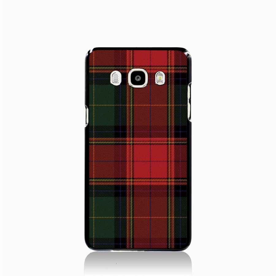 07287 RED BLUE font b TARTAN b font SCARF FASHION cell phone case cover for Samsung