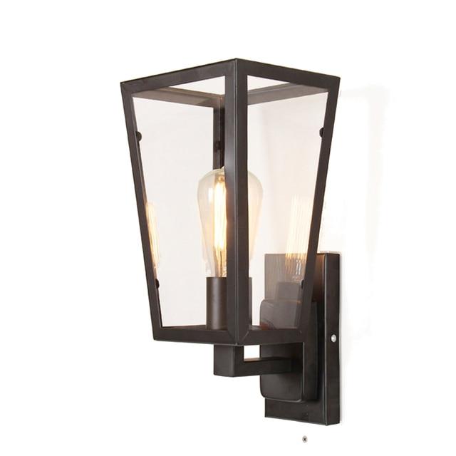 Mode nordique éclairage rétro classique bar mur lampes e27 verre ...