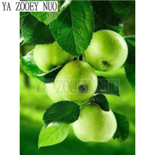 YA ZOOEY NUO 5D Diamond Embroidery Naked Fruit green apple Mosaic Diamond Painting Cross Stitch crystal Decor DIY Painting KL743