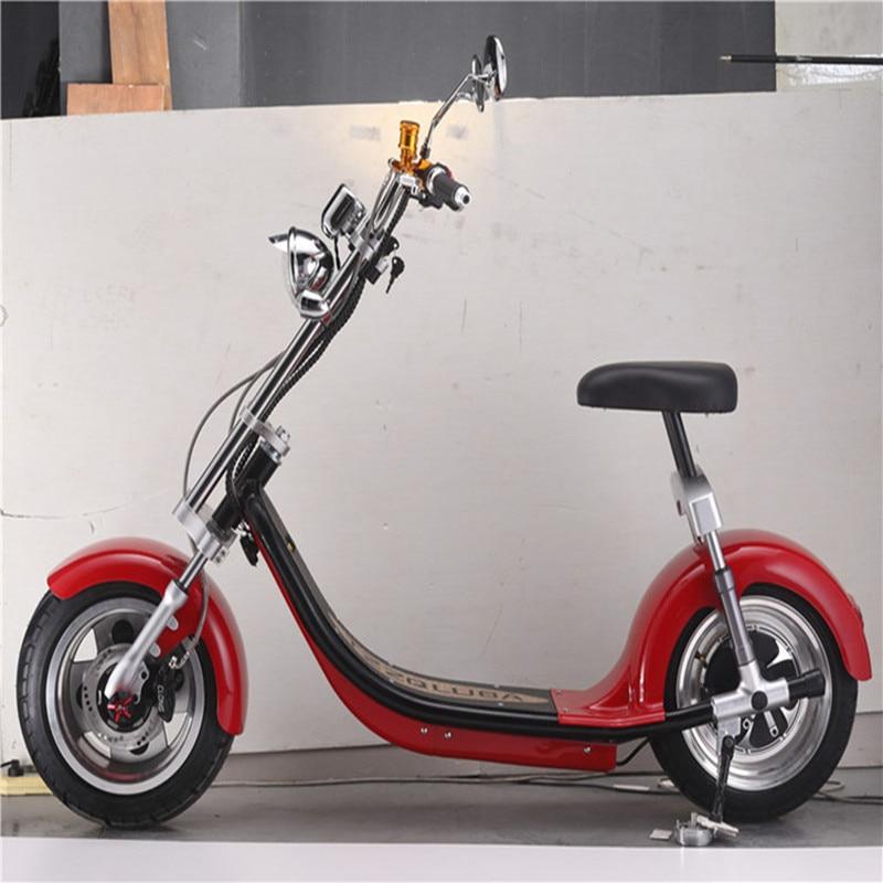Graisse roue citycoco 1200 w scooter électrique kick scooter 200 kg charge deux roues scooter électrique moto - 4