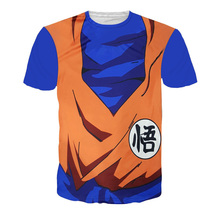 Men's T Shirts Fashion 2016 3d Graphic Dragon Ball Anime T Shirt Dbz Cartoon Character Style Brand New Couple Clothing