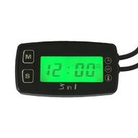 3 in 1 clock temperature SENSOR voltage meter TEMP METER thermometer voltmeter for motorcycle snowmobile atv utv boat WATER oil