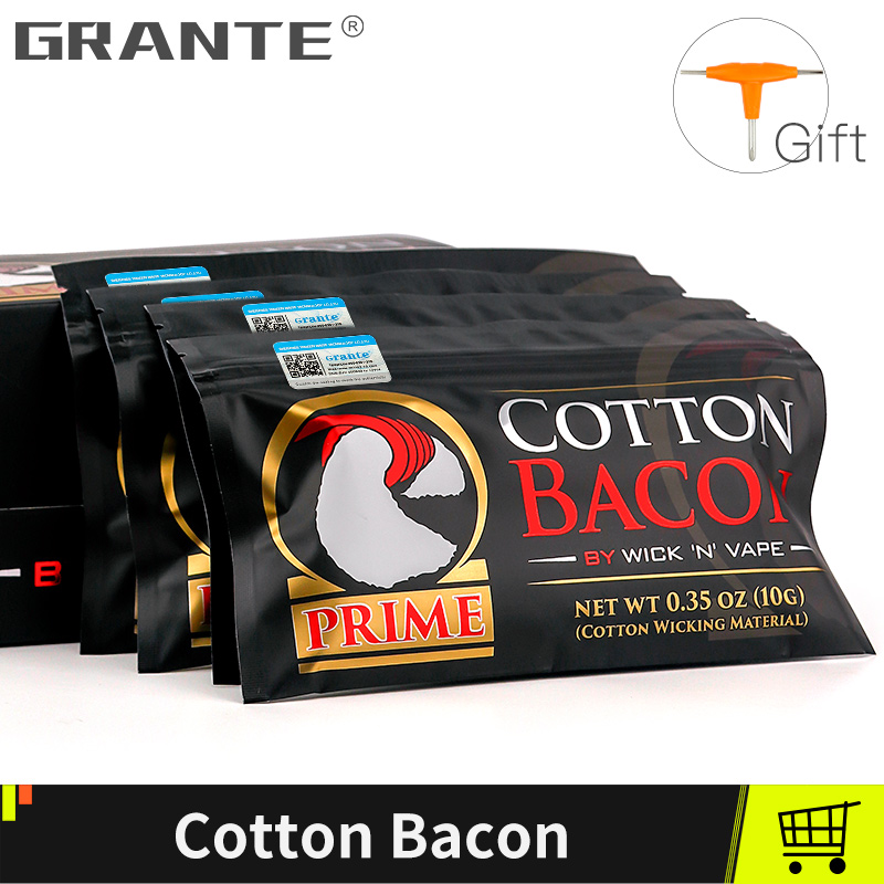 Grante Cotton Bacon Vape Cotton Gold Version Bacon For RDA RTA RBA Atomizer Vape Accessories E Cigarettes(China)