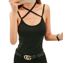 купить sintimes Cami Back Backless Black Tank Top Women Mujer Tops 2019 Pink Woman Clothes Camisole Cami Casual Camis Vetement Femme в интернет-магазине