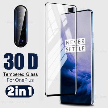 Перейти на Алиэкспресс и купить 2в1 Oneplus7 Pro 30D закаленное стекло для One plus7 One plus Oneplus 7 8 7pro полный закругленный протектор экрана стеклянная пленка для объектива камеры