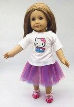 2016 новый 18-дюймовый American girl куклы одежда юбка костюм детские игрушки аксессуары Рождественский подарок подарок на день рождения бесплатная доставка T87