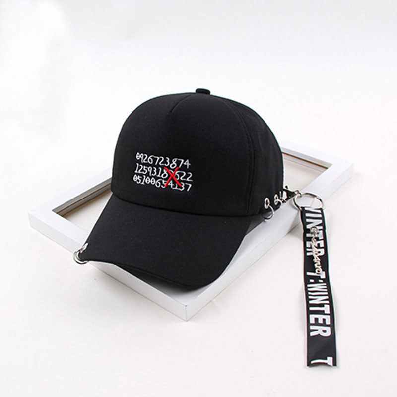 Casquette 2018 Ulzzang Harajuku Ribbon   Baseball     Cap   Korean Style Fashion Novelty letter   Caps   For Men Women Casual Snapback Hat