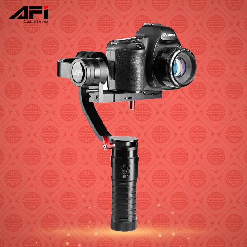 Stabilizzatore AFI VS-3SD 3 Assi Handheld Brushless Gimbal per Canon Nikon Dslr Supporto Peso 1.7 KG PK Beholder DS1