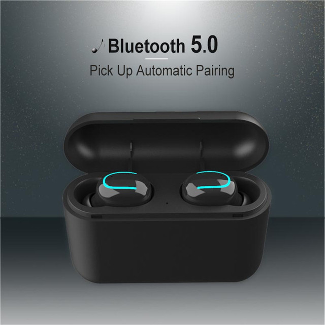 TEBAURRY True Wireless Buetooth Earphone 5.0 TWS Mini Wireless Earbuds Stereo  Headset with Charging box power bank for phone 3