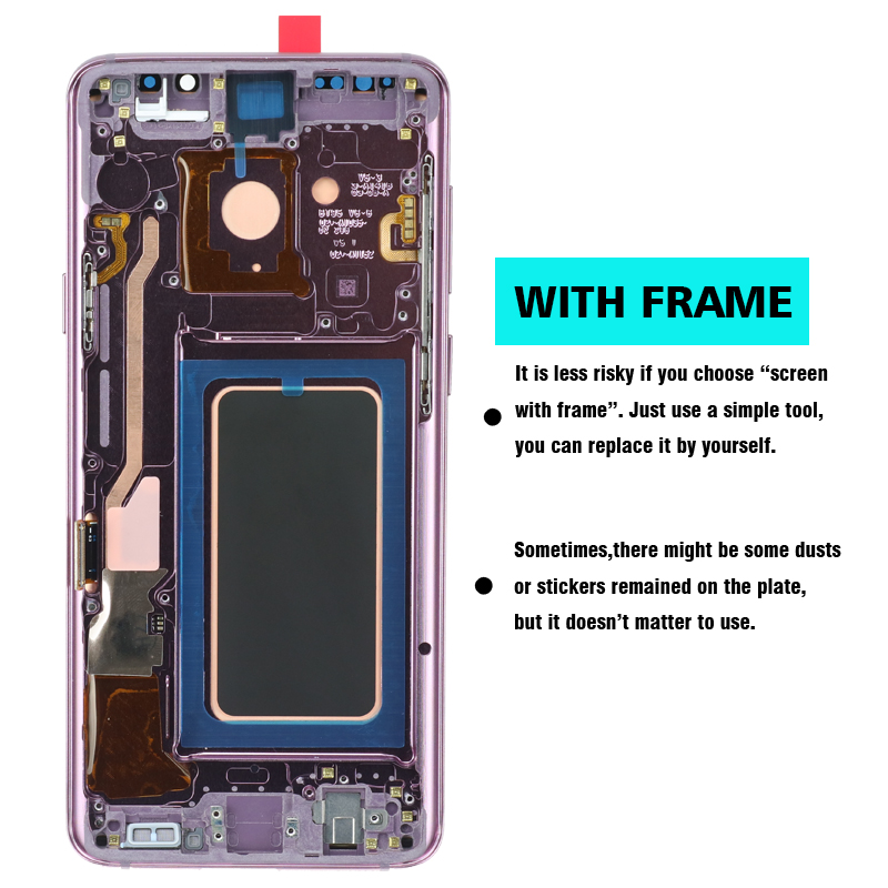 HTB15EM9dBCw3KVjSZFuq6AAOpXaY 2960*1440 100% ORIGINAL LCD with Frame for SAMSUNG Galaxy S9 Plus Display S9+ G965F G965 Touch Screen Digitizer+Service Pack