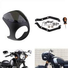 7 Motorcycle Headlight Retro Cafe Racer Fairing Windshield Windscreen phare va couvrir Cubierta faro carenado