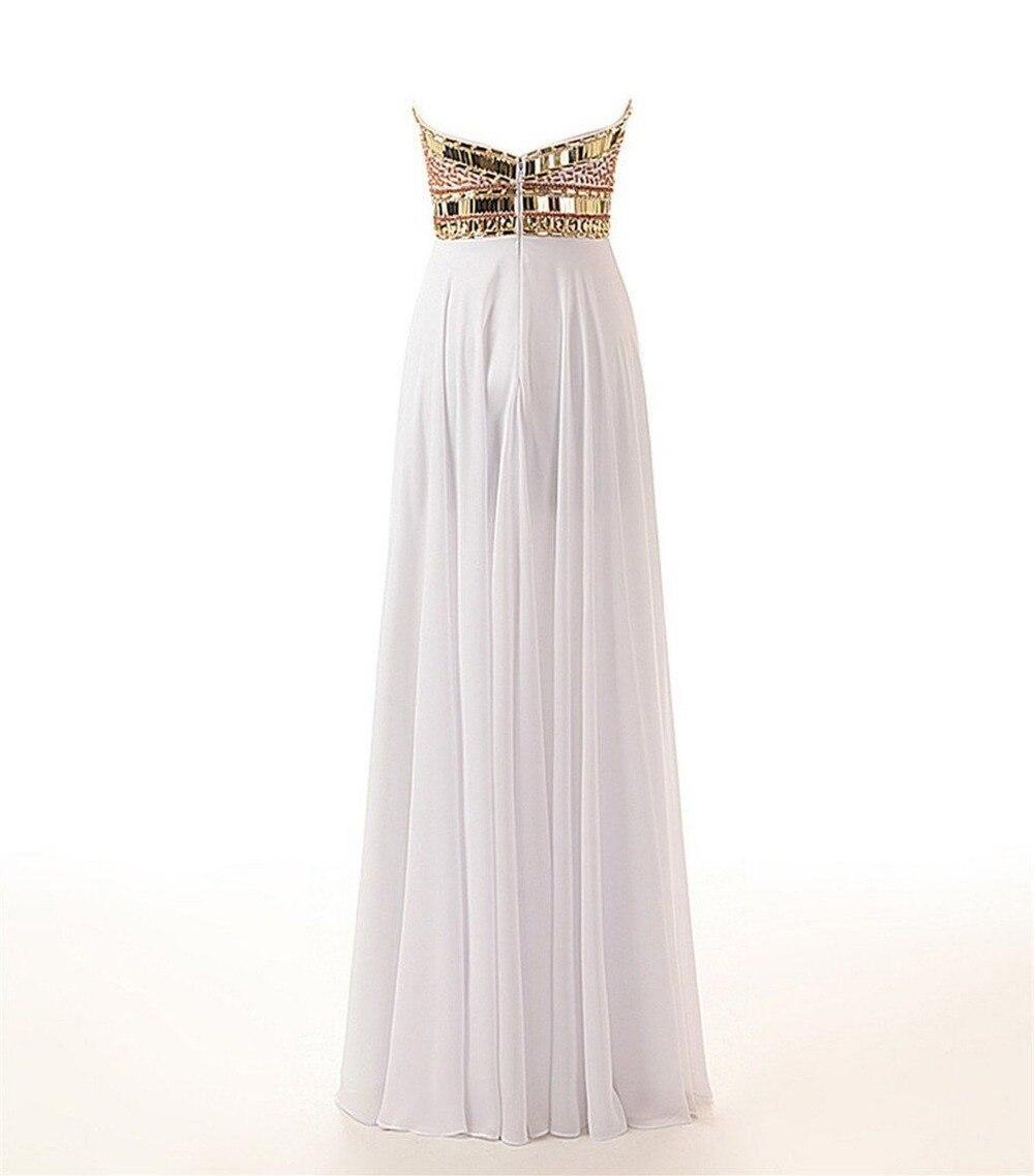 3bab5e0b142f Vestidos largos blanco con dorado – Vestidos de boda