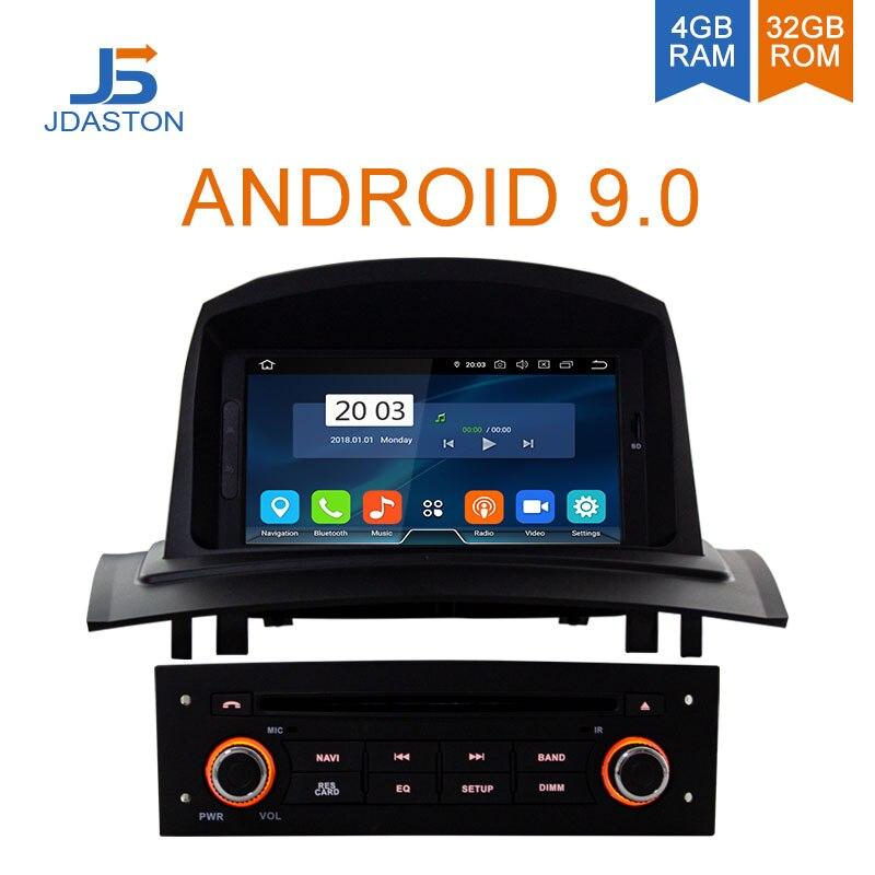 JDASTON Android 9.0 Car DVD Player For RENAULT Megane Fluence 2 2002-2008 Octa Cores