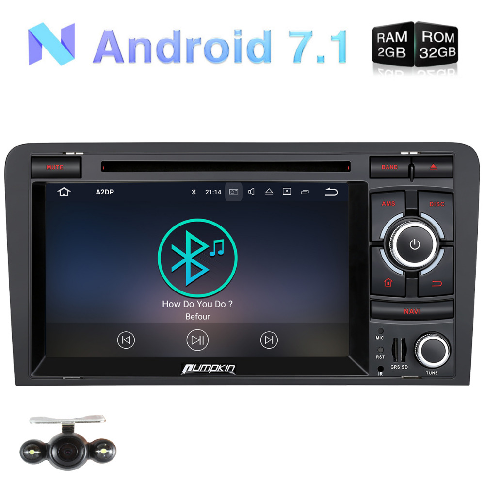 pumpkin 2 din 7 android 7 1 car multimedia dvd player gps. Black Bedroom Furniture Sets. Home Design Ideas
