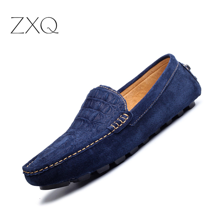 New Design Men Leather Loafers High Quality Summer Style Moccasins Men Loafers Flats Gommino Driving Shoes