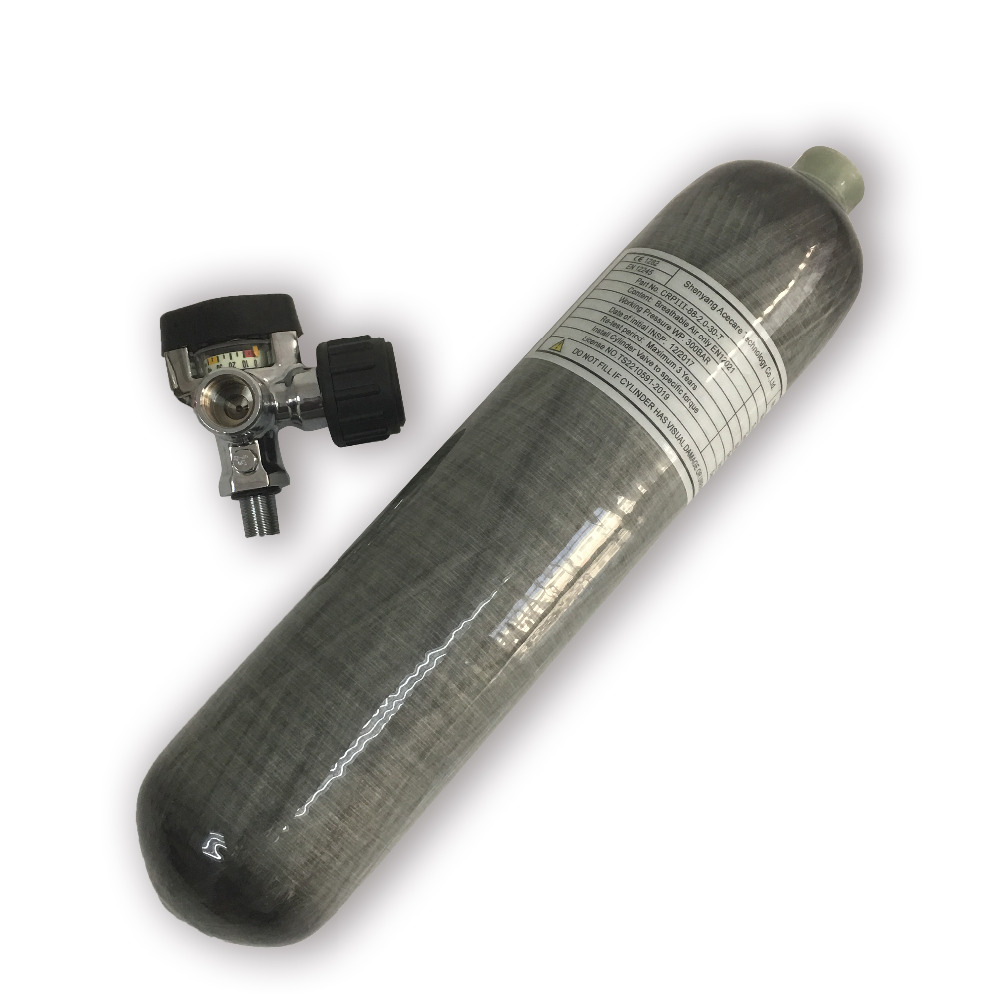 AC10321 Mini Scuba Tank 3LCE 4500Psi Carbon Fiber Cylinder Thread M18*1.5 High Pressure Cylinder Airforce Condor PCP Gun Acecare