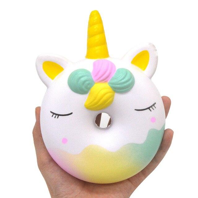 Men Birthday Gift Suit Package Car Key Ring Sunglasses: Kawaii Jumbo Cute Rainbow Unicorn Face Donut Squishy Slow