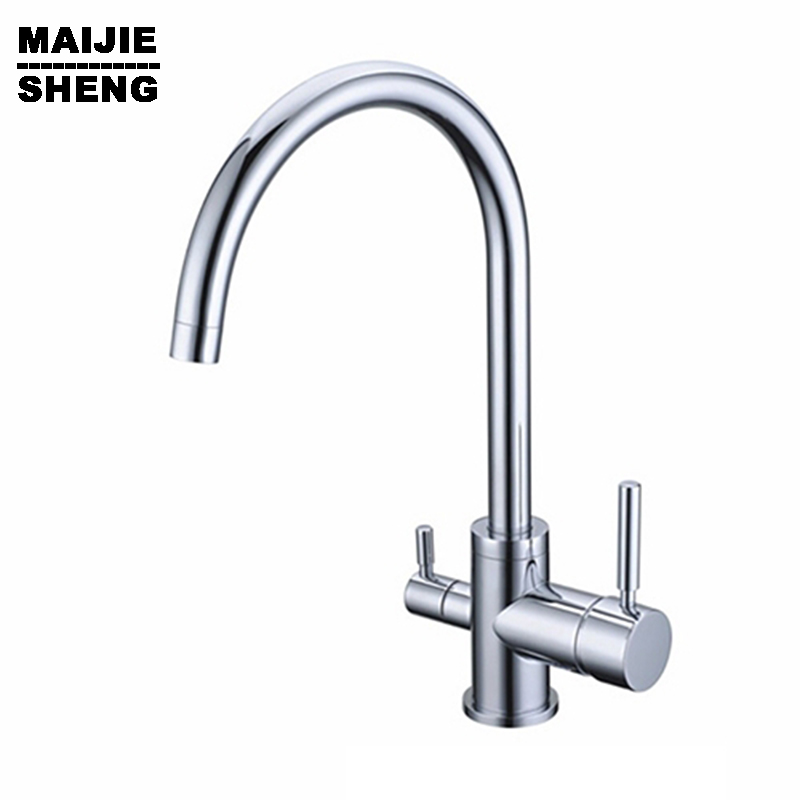 Kitchen Tap Faucets Selling None Torneiras Para Pia Cozinha Drinking Water Faucet for Filtered 3 Way Mixer Torneira Com Filtro 2015 new kitchen sink tap torneira kitchen faucet hot and cold sink faucets contemporary chrome torneiras para pia cozinha tap