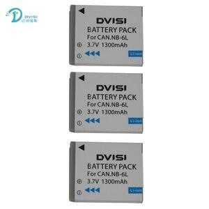 Image 2 - DVISI 3.7V 1.3Ah NB 6L NB6LH Li Ion Batteria Per Canon Power shot SX520 HS SX530 SX600 SX610 SX700 SX710 IXUS 85 95 200 210 105