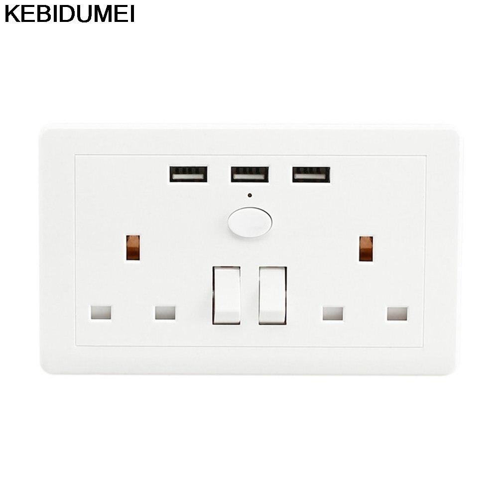 KEBIDUMEI Steckdose Mit USB Schalter In Die Steckdose stecker 2.1A 3 ...