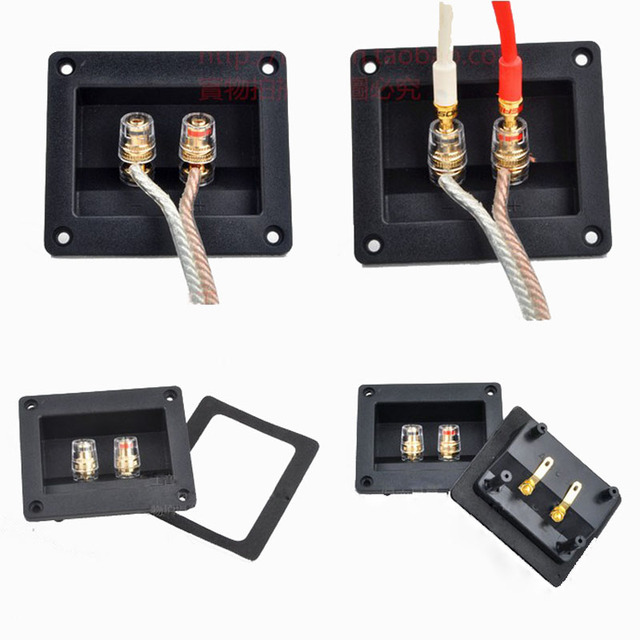 2pcsHigh Quality Two Speaker Junction Box Connector Speaker Board ...