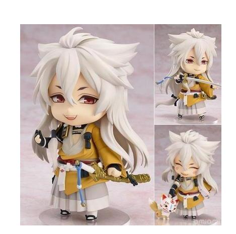 Touken Ranbu Online Mikazuki Munechika kogitsunemaru Q version 10CM 525# Nendoroid PVC Action Figures Collectible Model Toys captain america civil war iron man 618 q version 10cm nendoroid pvc action figures model collectible toys