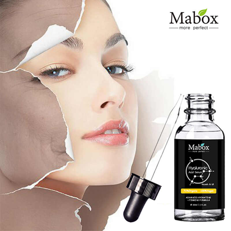 Mabox Hyaluronic Acid Serum Moisturizing Essence Face Cream Acne Treatment Skin Care Repair Whitening Anti-Aning Winkles elizavecca witch piggy hell pore control hyaluronic acid 97% moisturizing face cream skin care whitening ageless anti winkles