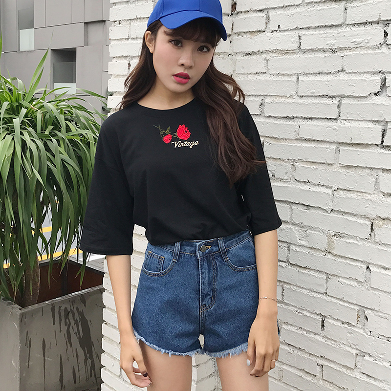 T shirt women 2017 korean ulzzang kawaii harajuku shirt women tops ukraine summer retro ...
