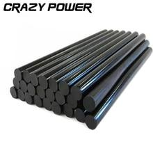CRAZY POWER 10pcs/lot 11mmx200mm Black Glue Stick Clear Adhesive For Hot Melt Gun Car Audio Craft General Purpose Free Shipping