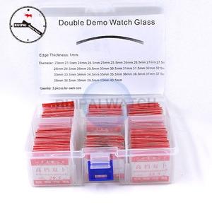108 шт./лот двойное купольное стекло для часов, Круглый минеральный диаметр 23 мм ~ 40,5 мм, двойное изогнутое стекло для часов, запасные части для...
