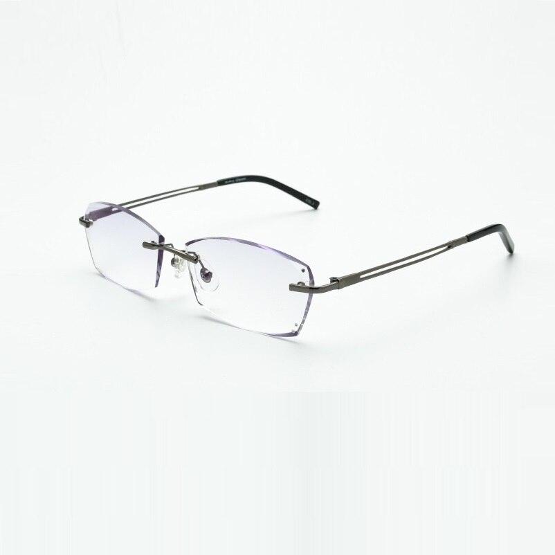Strahlung Brillen Grau Gray Businessmale Optische De Schraube Gläser Legierung Unsichtbare Anpassen Fertig Myopie silvery Famle 2037 Oculos wqWIXAYgP