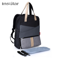 Insular Working Mother Baby Care Bag Backpack with Computer Layer Multi function Backpack for Mom Diaper Bag Backpack luiertas