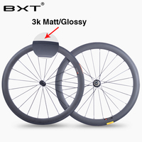 2018 BXT Top quality 700c wheelset 50mm clincher 23mm width road carbon wheelset super light Chinese new racing bicycle wheels