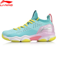 Li Ning Women SONIC BOOM 2.0 Badminton Shoes Mono Yarn Cushion LiNing li ning Sock Like Design Sport Shoes AYZP002 XYY110