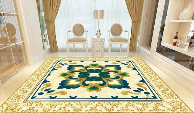 Personalizzato d piastrelle modello europeo tappeto parquet