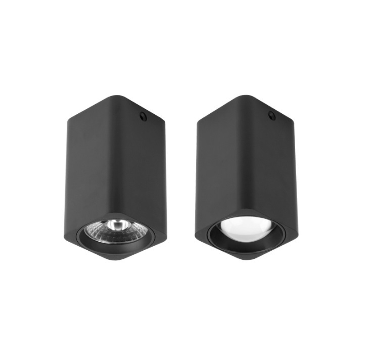 12W Surface Mounted LED Downlights in Square 10cm Height, NO cut out, Interiors Lighting, Aluminum Metal Enclosure the codes guidebook for interiors