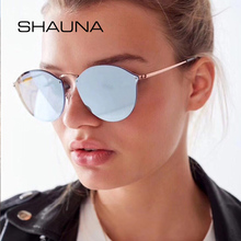 цена на SHAUNA Classic Women  ladies sunglasses Round Fashion 90`s Men Mirror Coating Shades