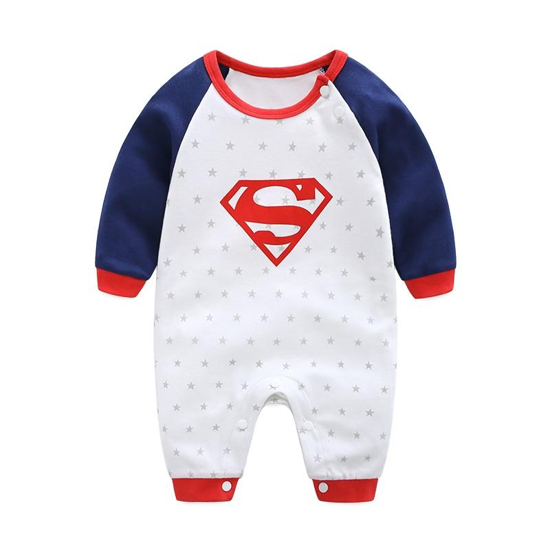 2018 New Fashion Cartoon Cotton Kids Boy Clothes Jumpsuit Batman Baby Boy Romper Superman Baby Gilr Romper Baby Costume Clothing