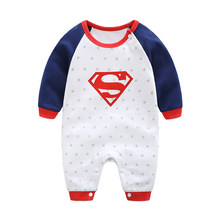 2018 New Fashion Cartoon Cotton Kids Boy Clothes Jumpsuit Batman Baby Boy Romper Superman Baby Gilr Romper Baby Costume Clothing(China)