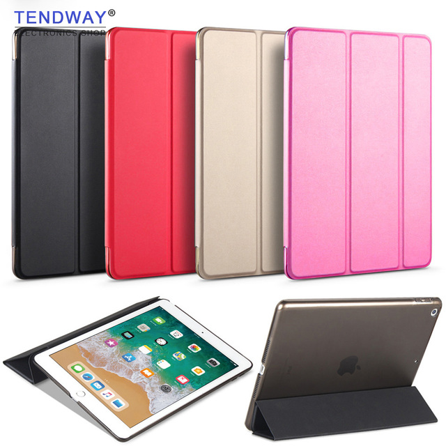 Tendway For Air ipad 1/2/5/6/9. 7 2017/2018 Case 2018 akcesoria PU inteligentny tablet Cover Flip Case Funda