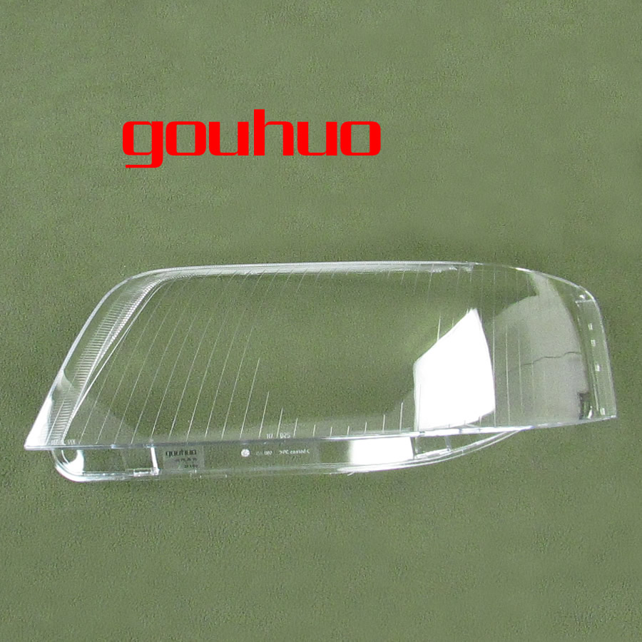 Front Headlamps Glass Headlights Shell Cover Transparent Lampshades Lamp Shell Masks For Audi A6 C5 03 05 2pcs