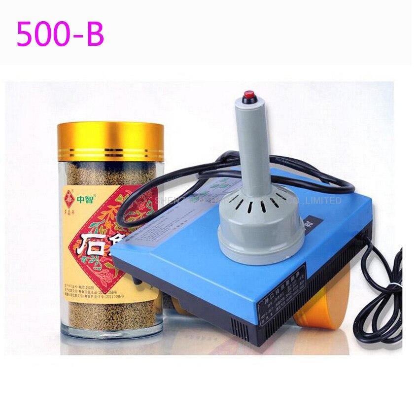 ФОТО 4PC New 500B Portable induction sealing machine aluminum foil capper Honey Packaging Equipment (10mm-90mm)