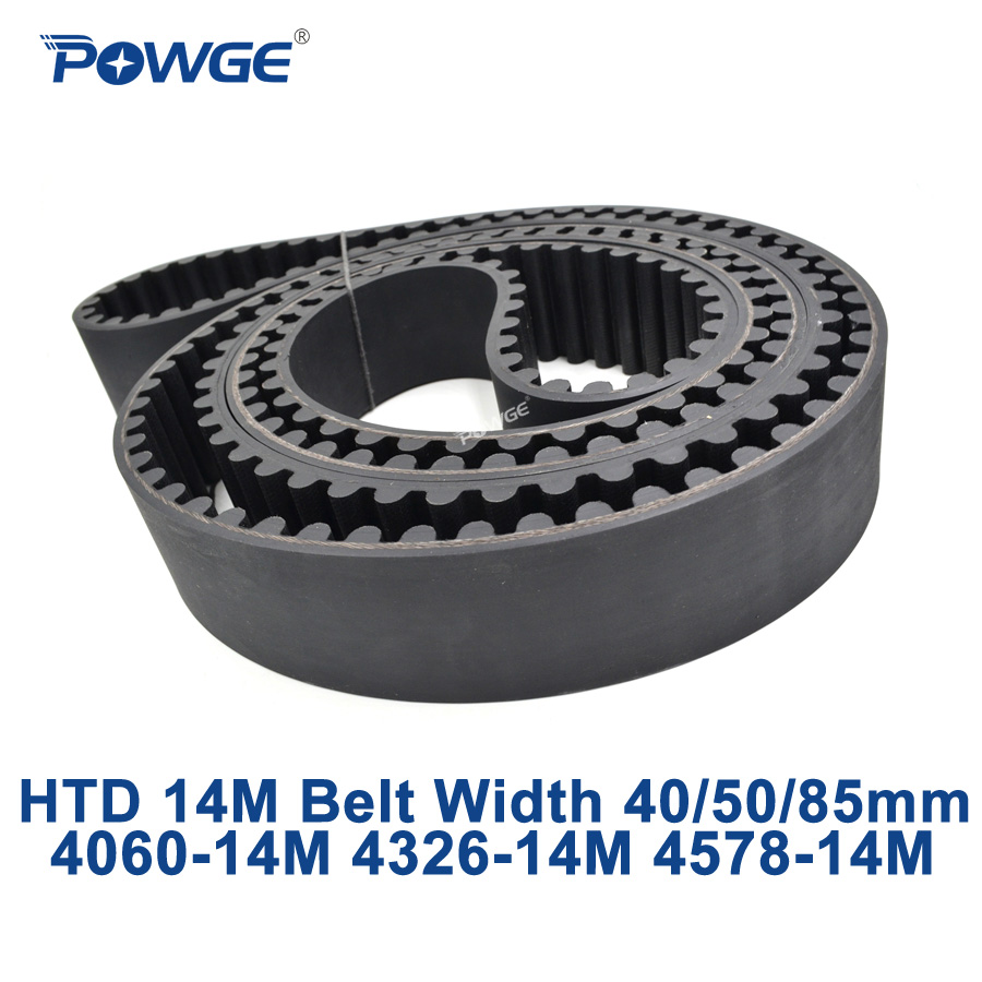 POWGE HTD 14M synchronous Timing belt C=4060/4326/4578 width 40/50/85mm Teeth 290 309 327 HTD14M 4060-14M 4326-14M 4578-14M stevens ste 14m col 03