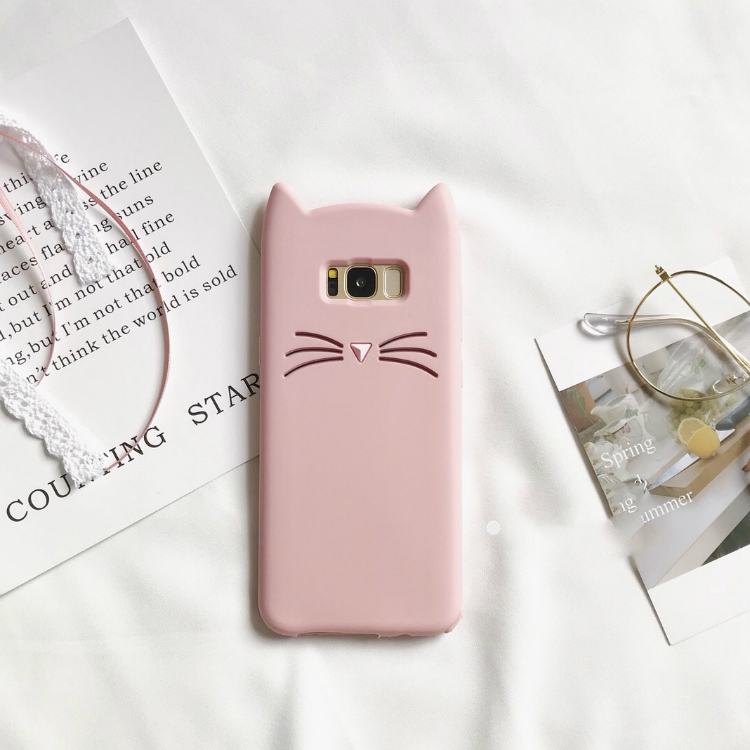 SAM S8 Lovely Lucky Cat Soft Silicon Cases For Samsung Galaxy