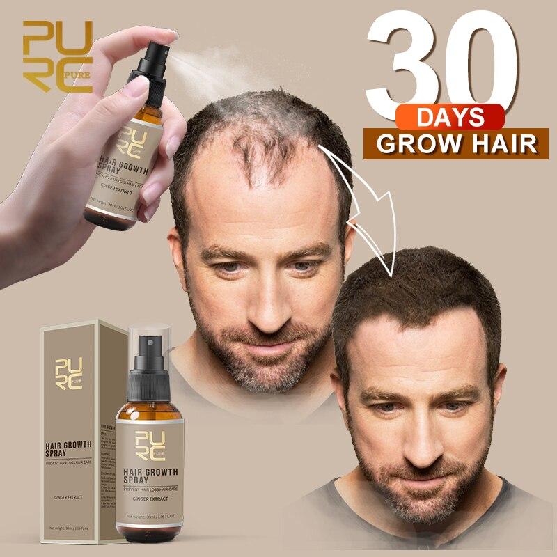 PURC 2018 New Hair Growth Spray Fast Grow Hair hair lossTreatment Preventing Hair Loss Hair Care 30ml lid
