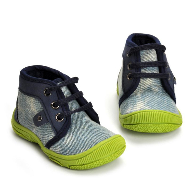 TELOTUNY Blue Color First Walkers Lovely Girl Boy Stripe Soft Denim Shoes Indoor School Sneakers 2017 drop shipped ST26