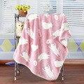 2016 Oferta Especial Primavera Swaddle Cobertores Do Bebê Recém-nascido Coral Cobertor de Lã Ar Condicionado Flanela Folha de Cama Macia 100*75 cm